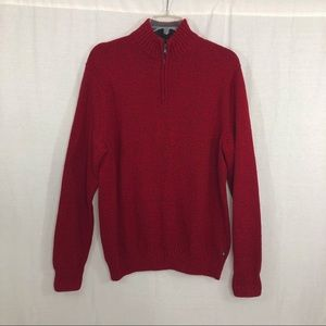 Chaps Mens 1/4 Zip Pullover Sweater, Size XL
